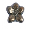 Glass Bead Flower 12x14mm Copper Metal Effect - Strung